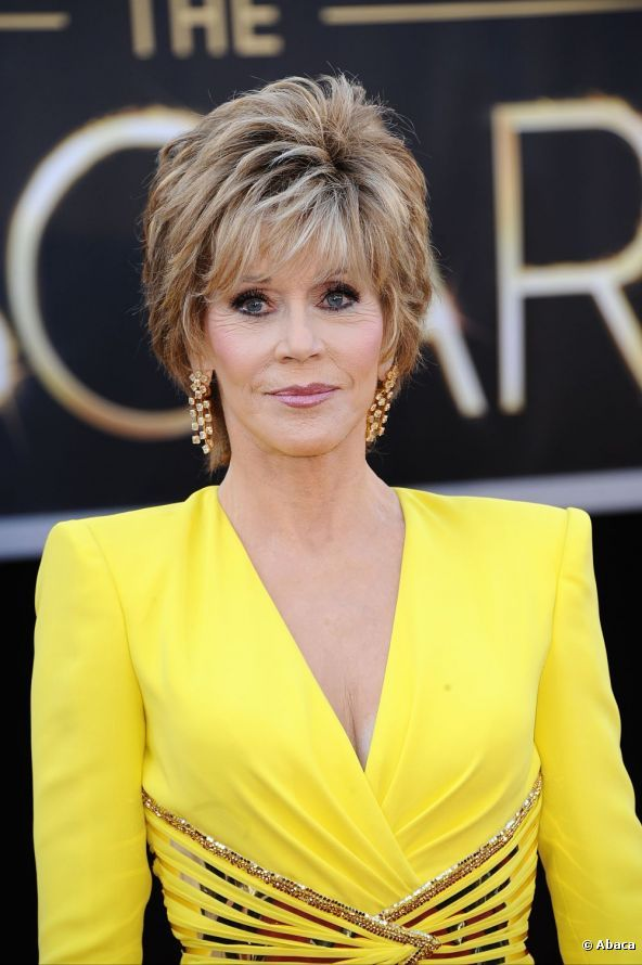 Jane Fonda Showed Off A Short Haircut For The 85th Academy Awards At