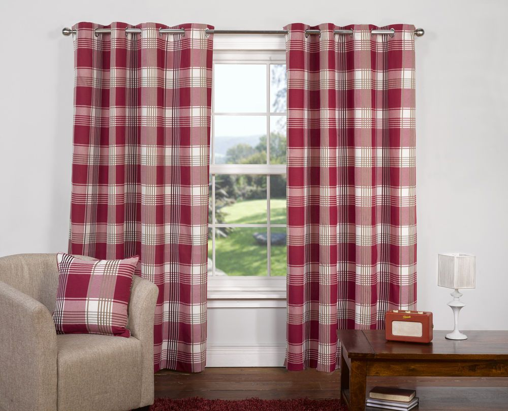 Red plaid curtains - Tartan Curtains Google Search