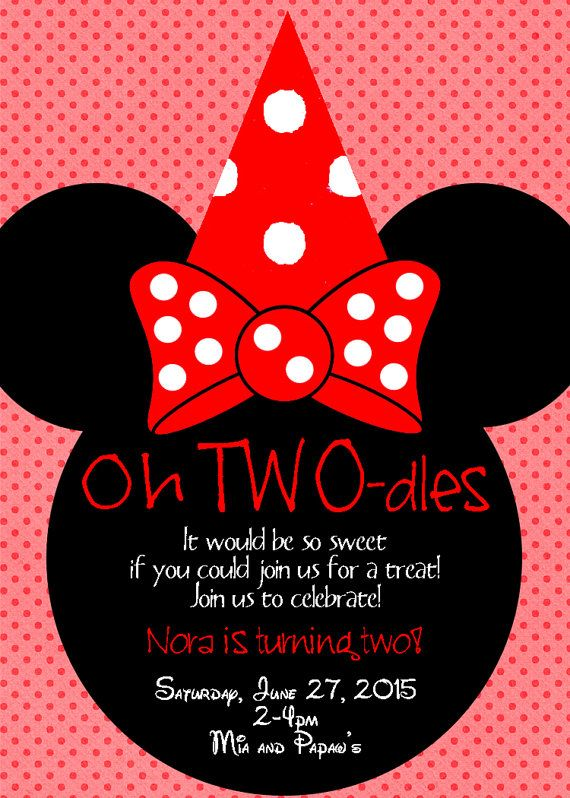 Red Minnie Mouse Birthday Invitation Digital By ThisLifeThisLove