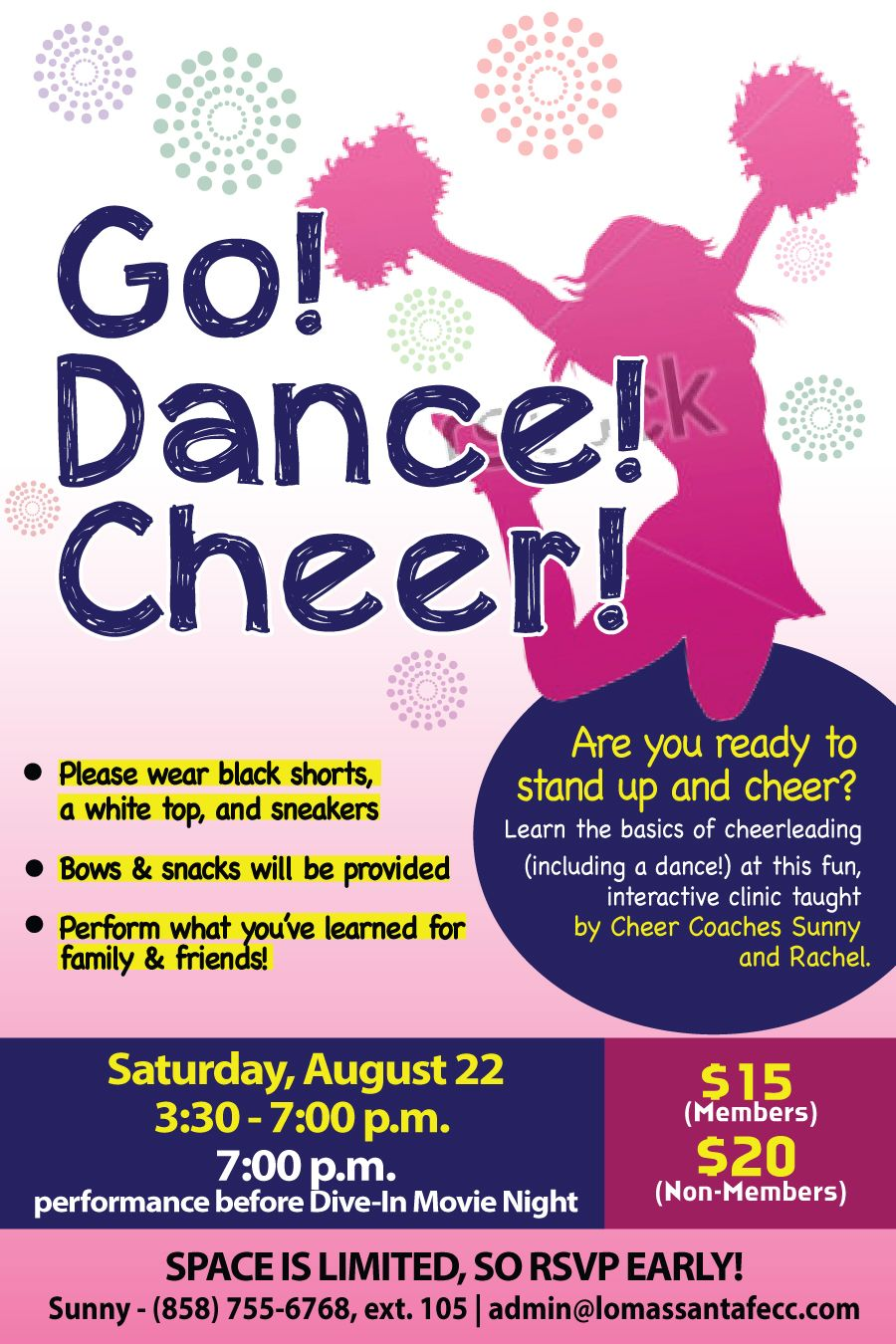 Cheer Clinic Flyer Poster Design Template