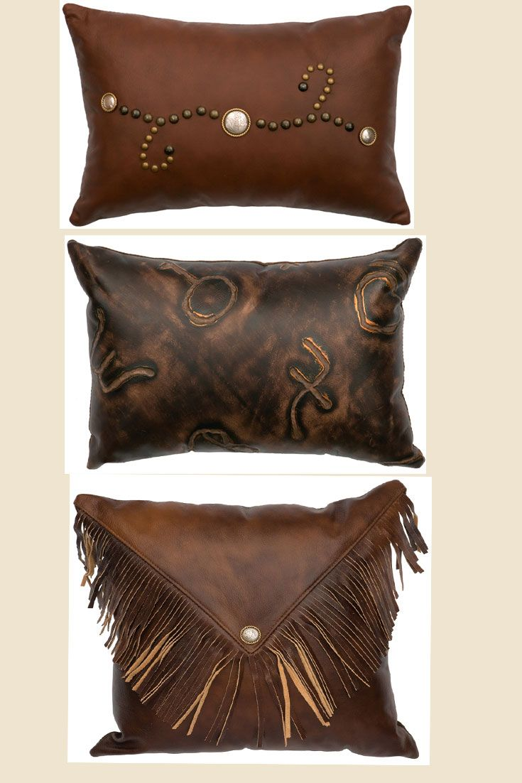 bedding leather b sofa faux great pillow pin western d cowhide pair and your our with e throw accent m for center pinterest o r tassel concho pillows or has a