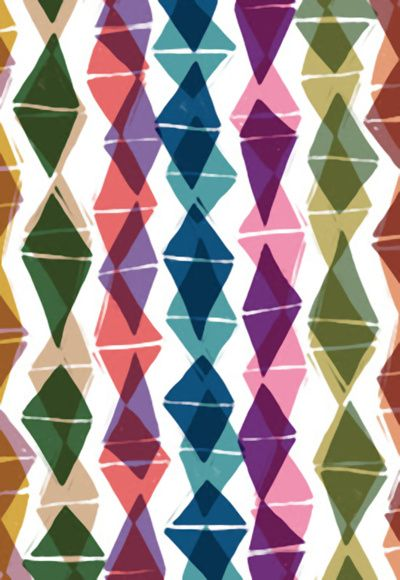 Sarah Bagshaw - Collage and Digital Diamonds Pattern