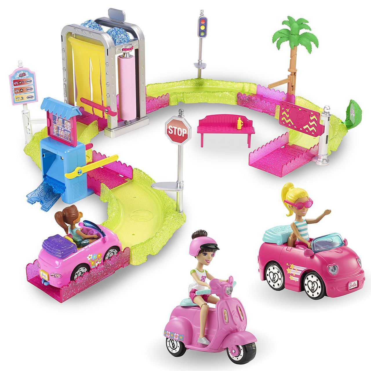 Barbie On The Go Car Wash Gift Set Gbw07 Barbie Go Car Barbie Car Barbie Gifts