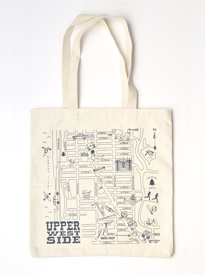 Maptote J Crew Upper West Side City Scapes