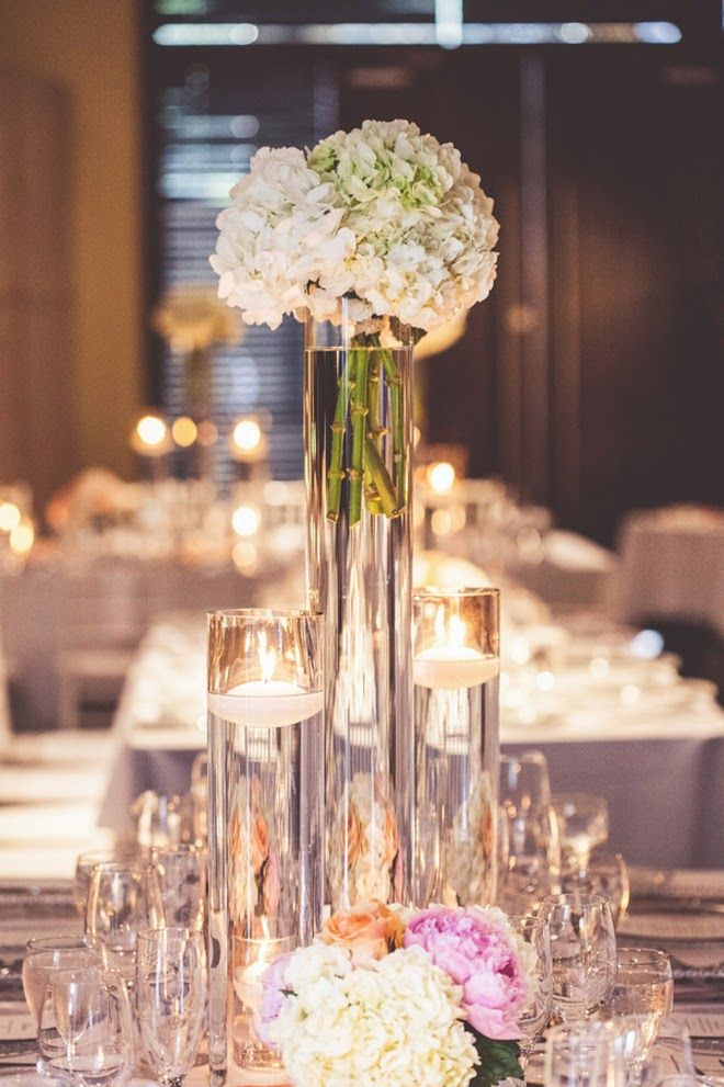 Modern Wedding Meets Romantic Affair Wedding Centerpieces