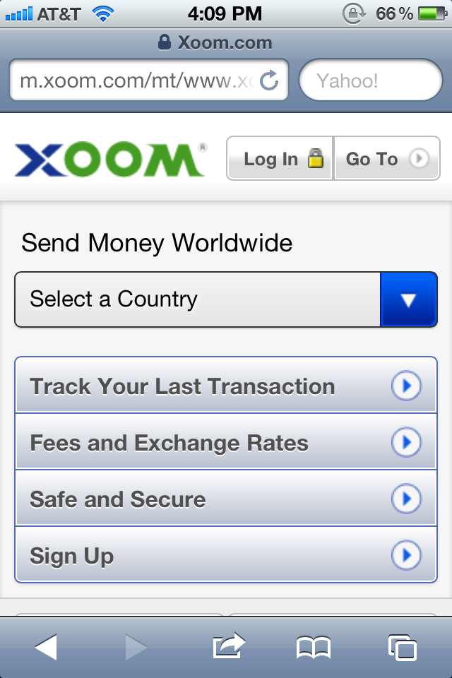 xoom money transfer mobile app - Google Search | Things