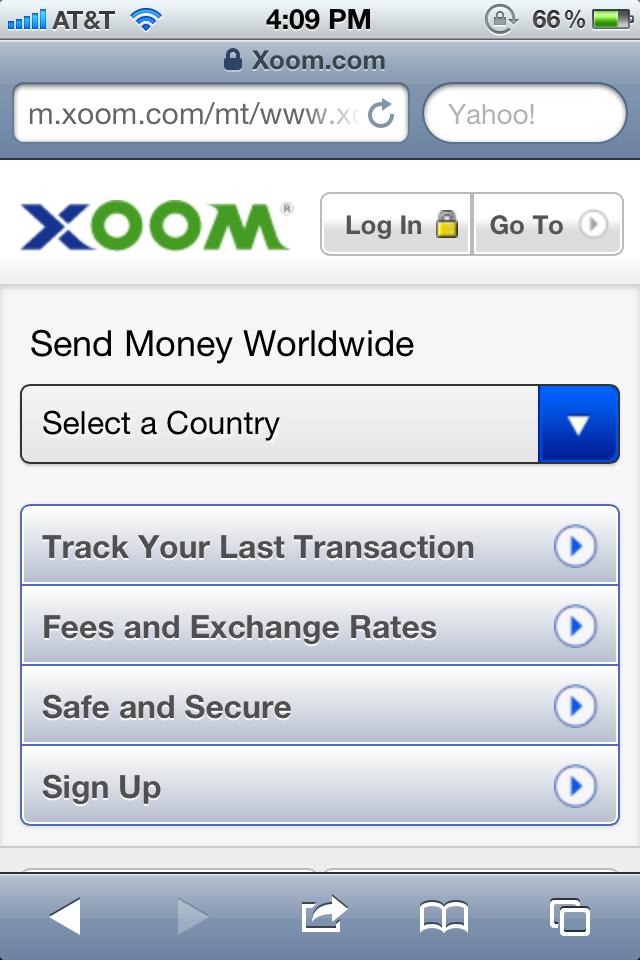 Xoom Money Transfer Mobile Google Search
