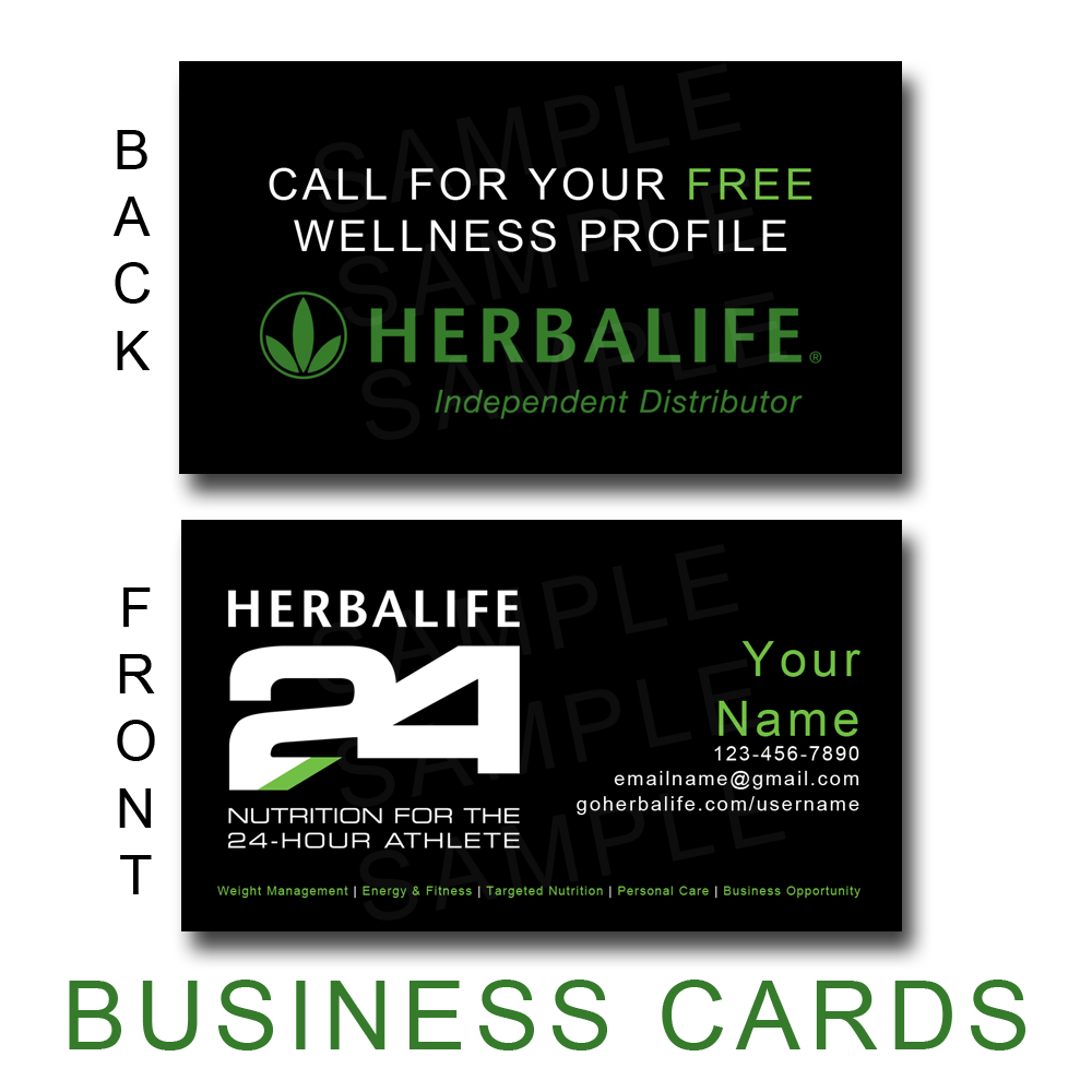 Herbalife24 Business Cards 2 Options Now Available Herbalife Business Card Templates Herbalife Business Cards Herbalife Business
