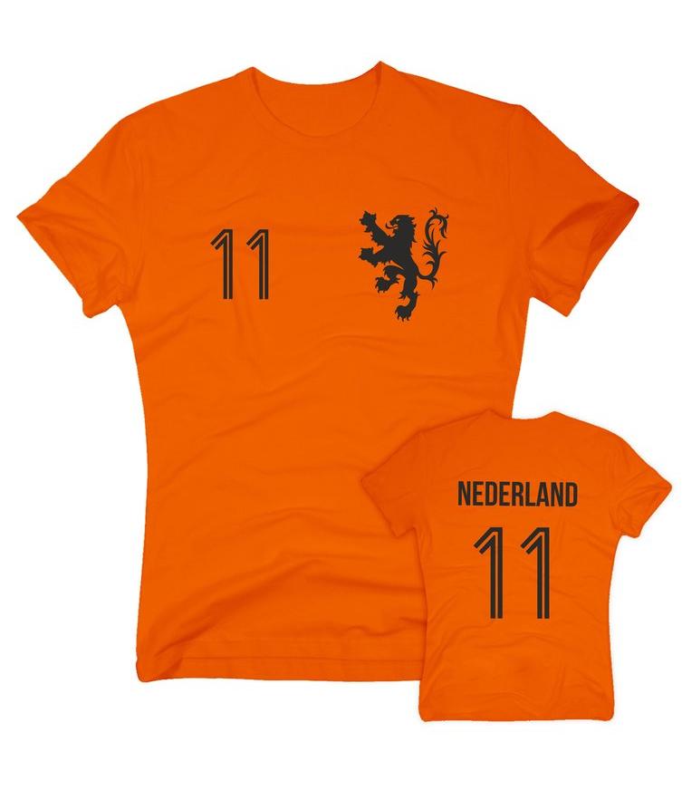 FUSSBALL WM 2018 NIEDERLANDE FANSHIRT T-Shirt Damen S-XXL