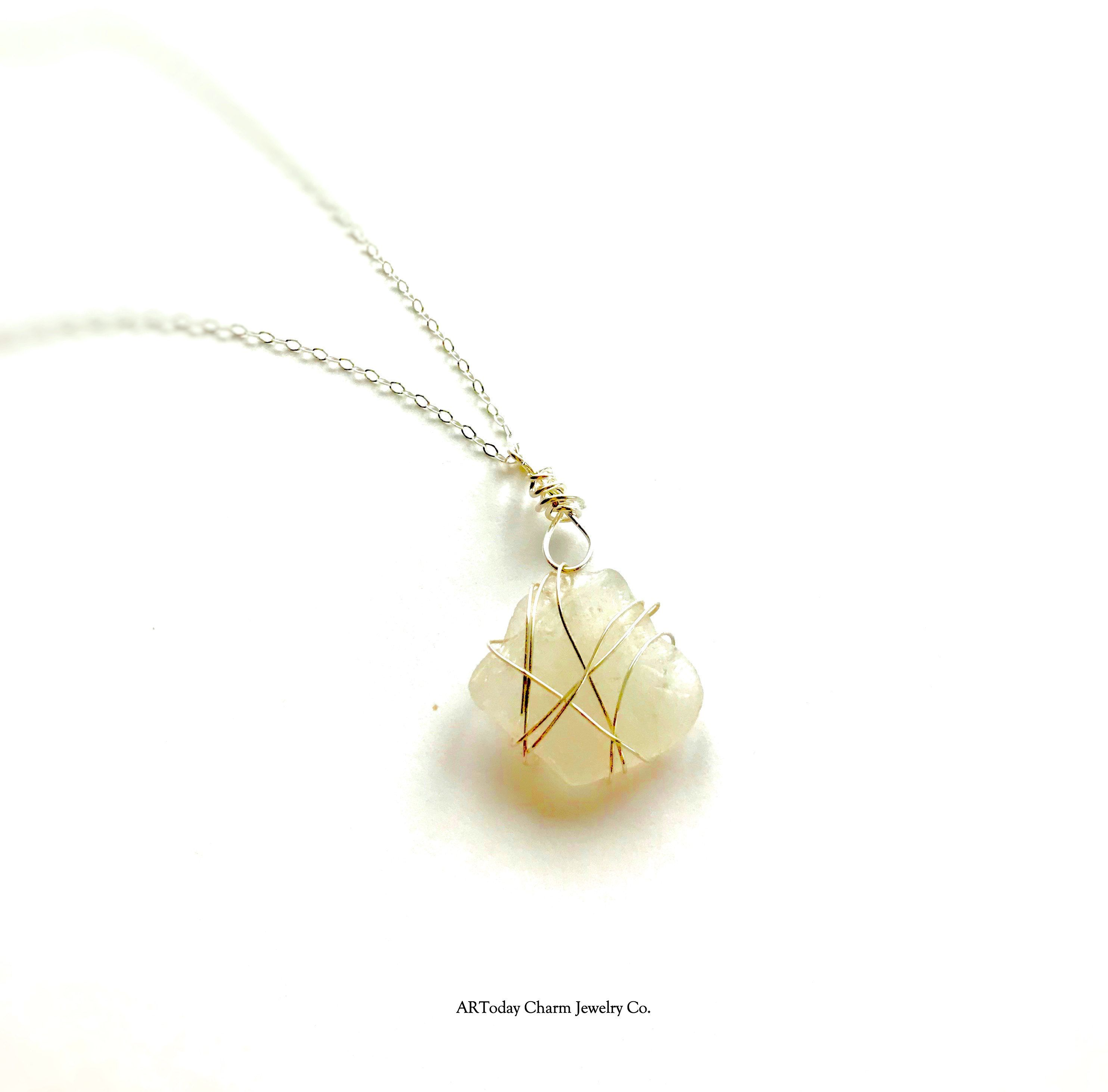 Natural Stone Wire Wrapped Sea Glass And Opals Beautiful White Rhode Island Wiring From Newport