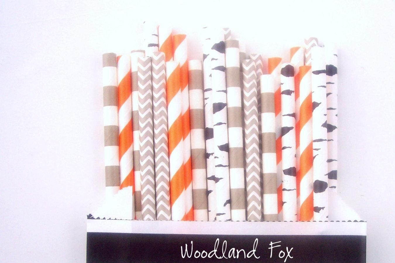 Woodland Fox Paper Party Straws -Straw Multipack (25 count) *Boy Party *Fox Party *Boy Theme Decor -Paper Straws for Birthday -Baby Shower - http://www.babyshower-decorations.com/woodland-fox-paper-party-straws-straw-multipack-25-count-boy-party-fox-party-boy-theme-decor-paper-straws-for-birthday-baby-shower.html