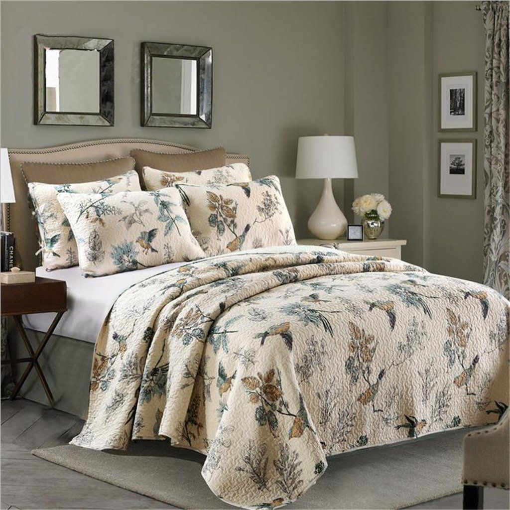 3 Piece Cotton Bedspread/Quilt Sets, Queen | Ease Bedding With ... : quilted comforter sets - Adamdwight.com