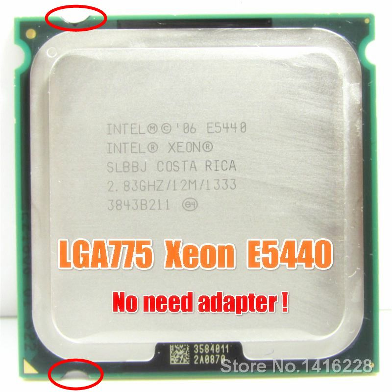 Xeon E5440 Processor 283GHz 12M 1333MHz Close To LGA775 Core 2 Quad Q9550 Cpu Works