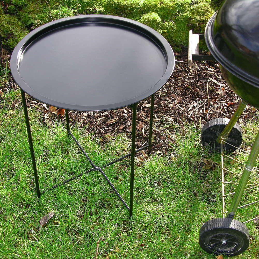 grill beistelltisch grilltisch klappbar garten tisch klapptisch f r grill ablage in garten. Black Bedroom Furniture Sets. Home Design Ideas
