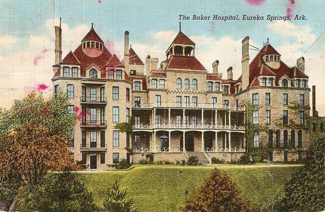 Crescent Hotel Former Baker Hospital Eureka Springs The 78 Room Resort