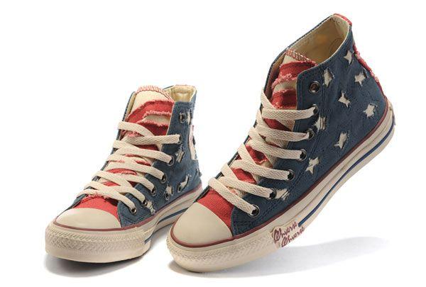 converse high top american flag