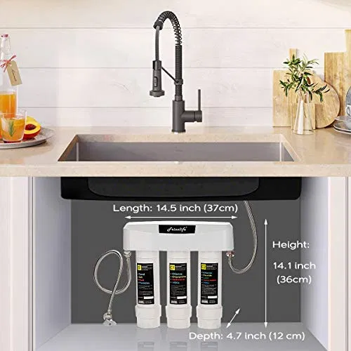 Frizzlife Under Sink Water Filter System Sk99 20 Off In 2020 Under Sink Water Filter Sink Water Filter Water Filters System