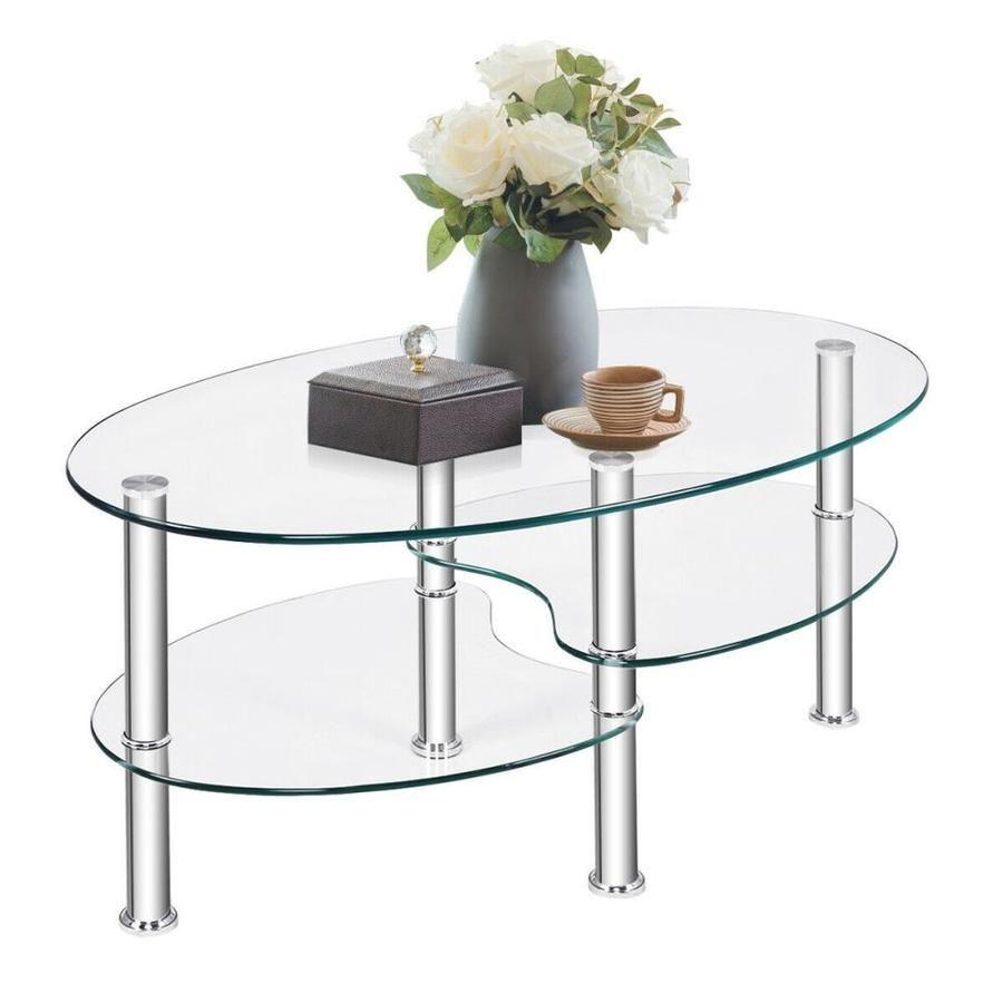 Clihome Glass Coffee Table Lowes Com Coffee Table Side Coffee Table Elegant Coffee Table [ 900 x 900 Pixel ]