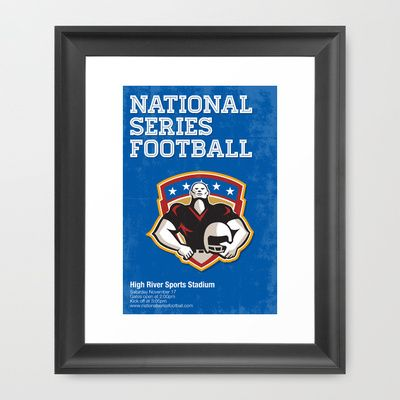American Football National Series Poster Art Framed Art Print