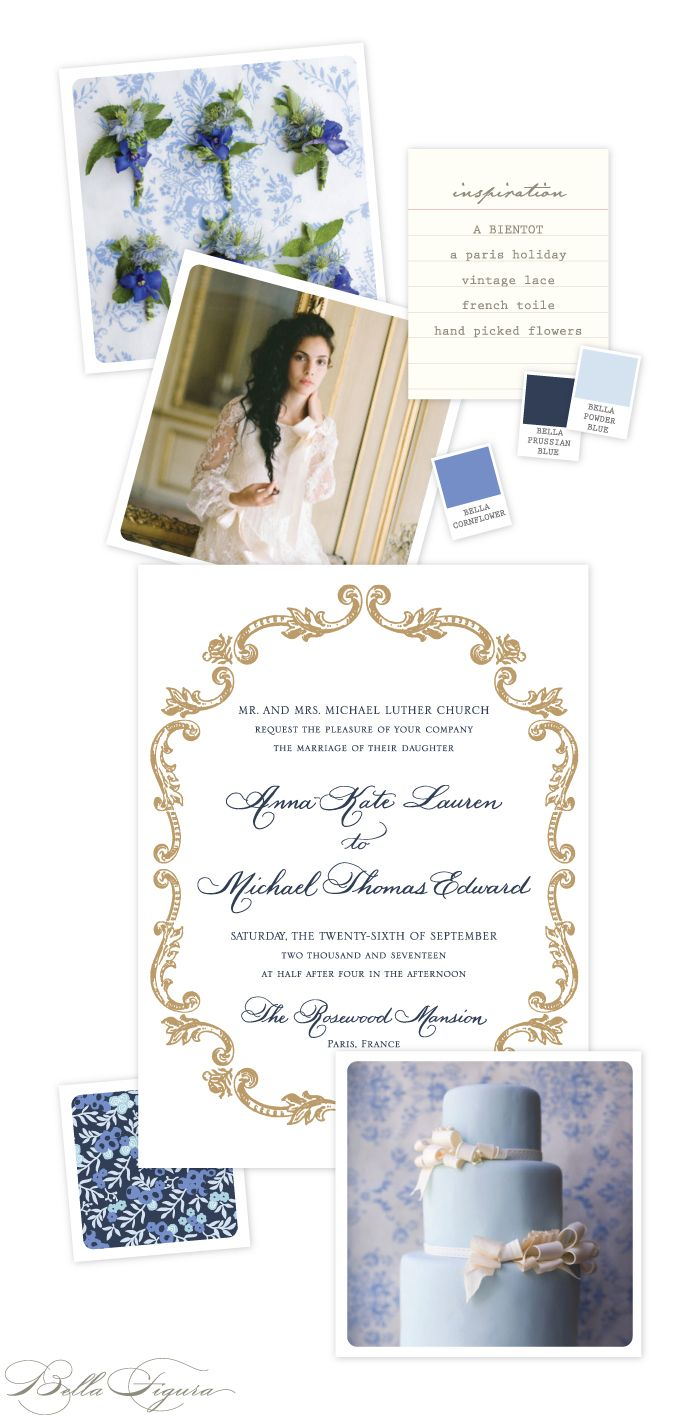 Vintage Parisian wedding invitation inspiration | Letterpress ...