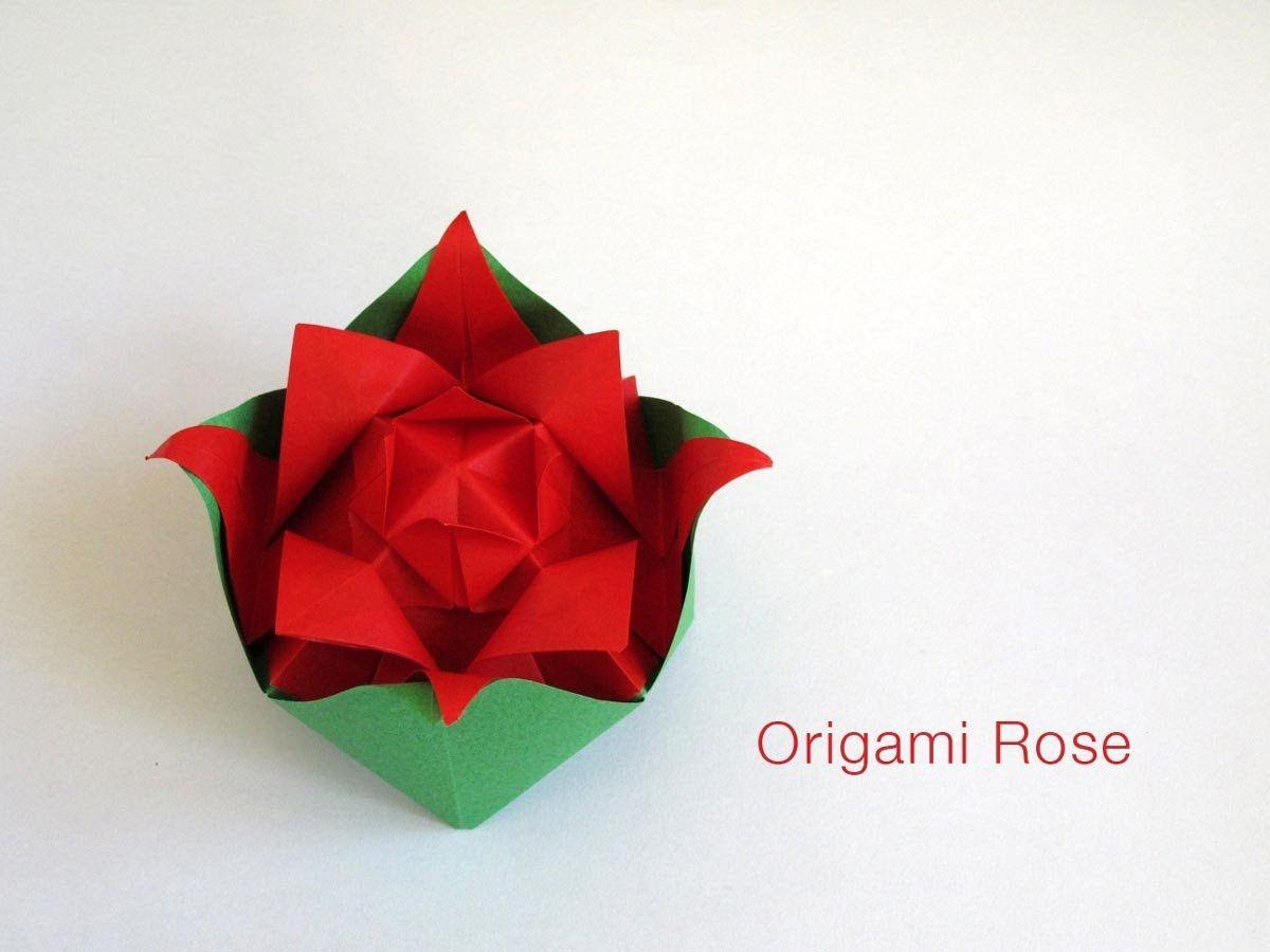 Origami Nested Rose 3 Pinterest Flower Diagram Rosebox