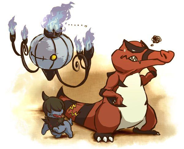 Krookodile, Chandelure, Deino Slam Dunk Pinterest Pokémon - new pokemon coloring pages krookodile
