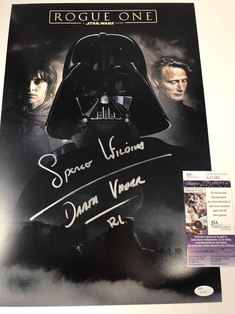 Spencer Wilding Signed Darth Vader Helmet in Display Case