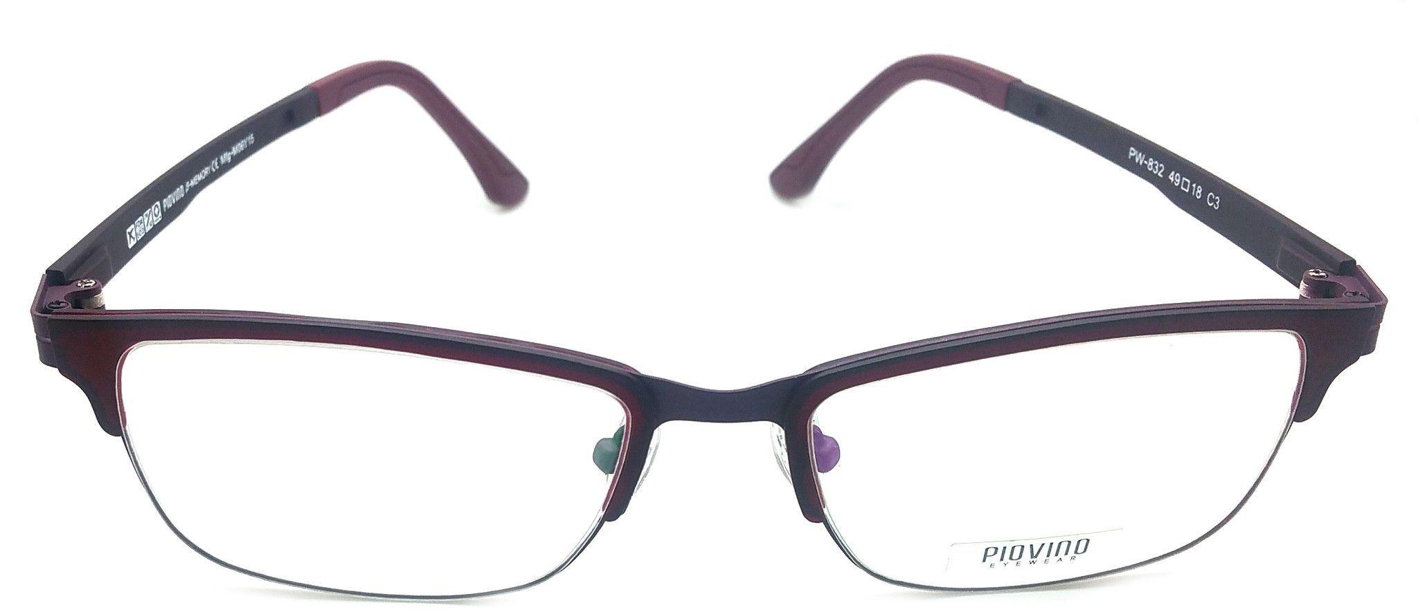 Piovino Eyeglasses Frame Super Light, Flexible PW-832 C3 Ultem Frame