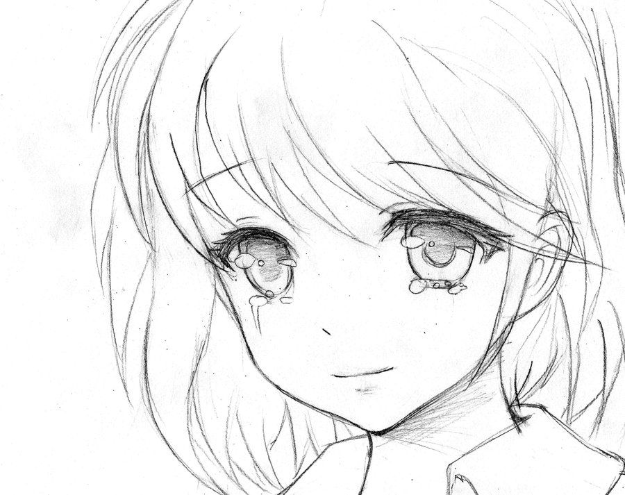 Scribble Drawing Anime : How to draw anime tears the girl crying by liz b rivers