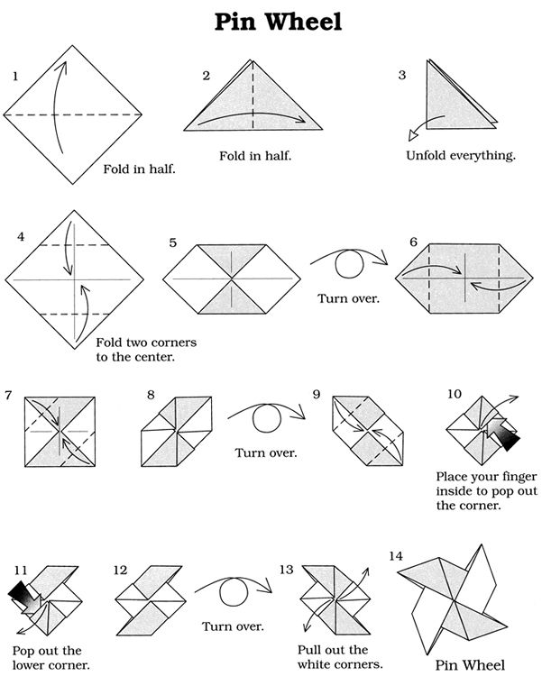 Welcome To Dover Publications Easy Origami Pinwheel Origami