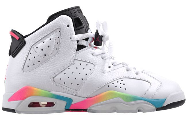 quality design b5b76 f94db Air Jordan VI (6) Retro GS | White / Rainbow | Sneaker head ...