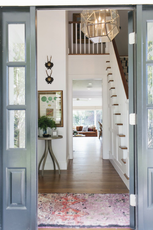 Entryway Makeover, modern vintage rug -- Studio McGee