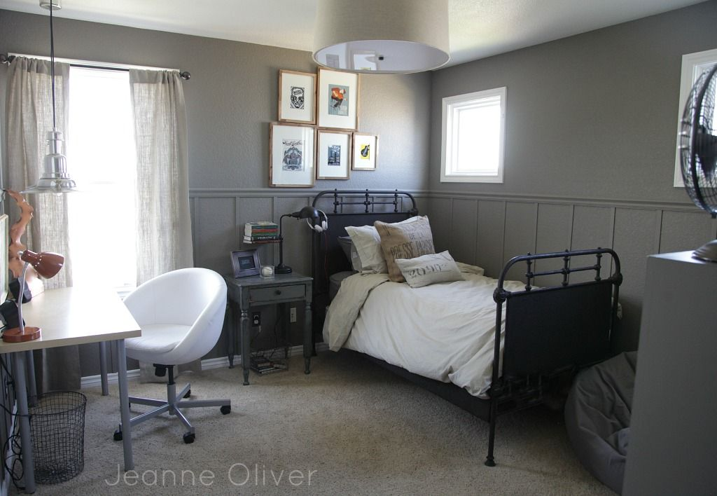 Teen Boy Bedroom Makeover {before and after} | Jeanne Oliver