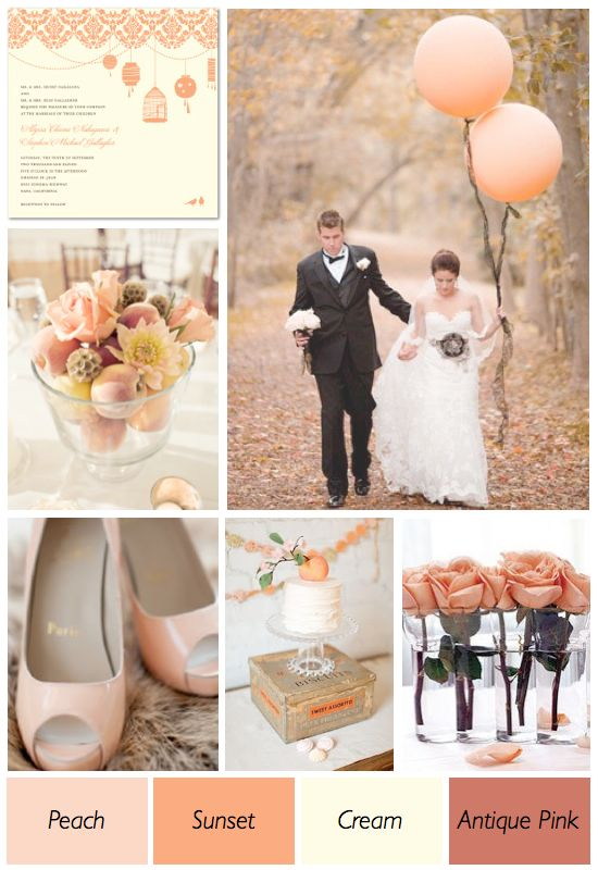 Peach And Cream Wedding Color Theme