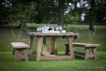 Gescova Deauville Cottage Table de repas jardin Rectangulaire Vieux ...