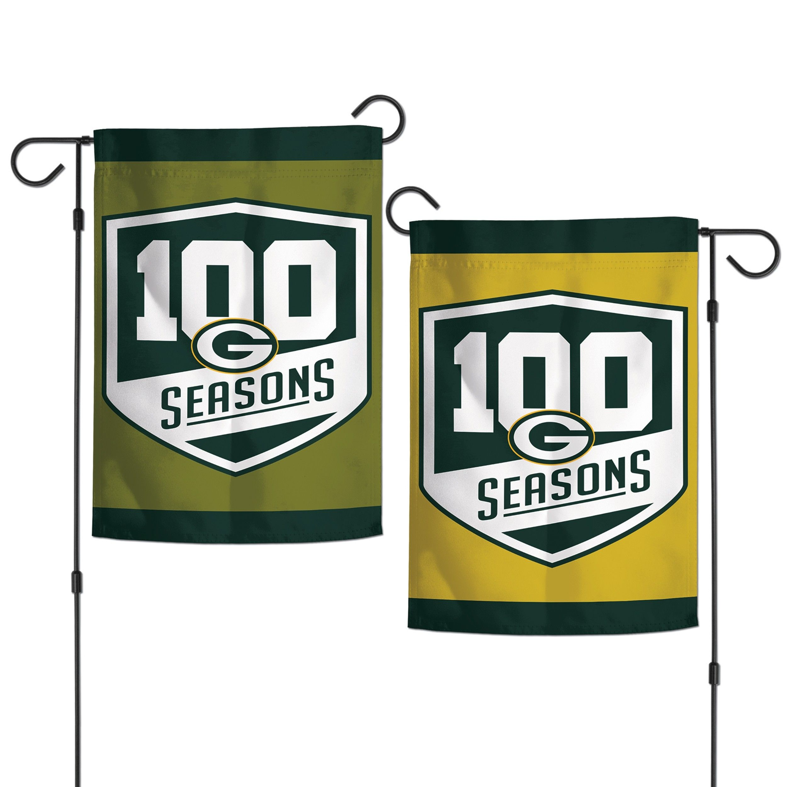 outlet store bbaf9 8a198 Packers 100 Seasons 2-Sided Garden Flag | Packer | Packers ...