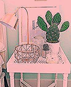 White Bedroom Furniture Opens Up a World of Decorating Themes  DIY Room Decor  Unique glam bedroom end table with goose neck pink lamp and succulents  White And Gold Bedr...