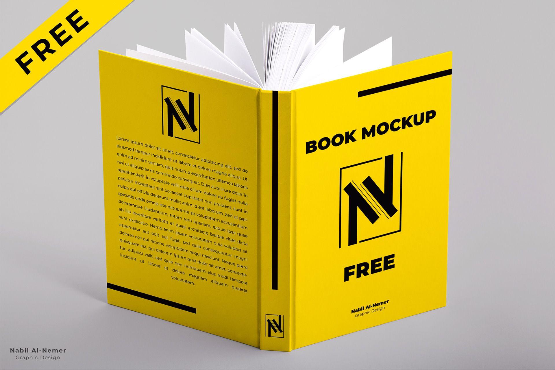 Free Open Book Hardcover Mockup Freebies Fribly Book Cover Mockup Mockup Template Free Open Book