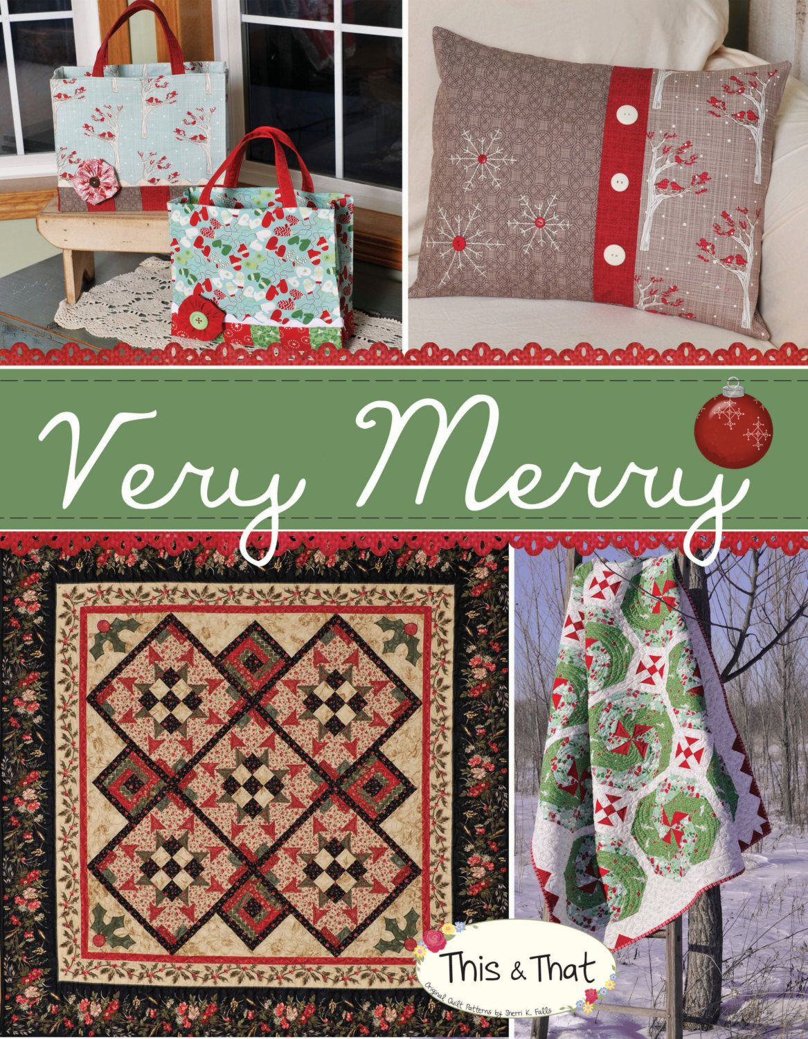 A collection of 12 assorted holiday quilting projects to decorate your home. This is a booklet that will be mailed out to you.