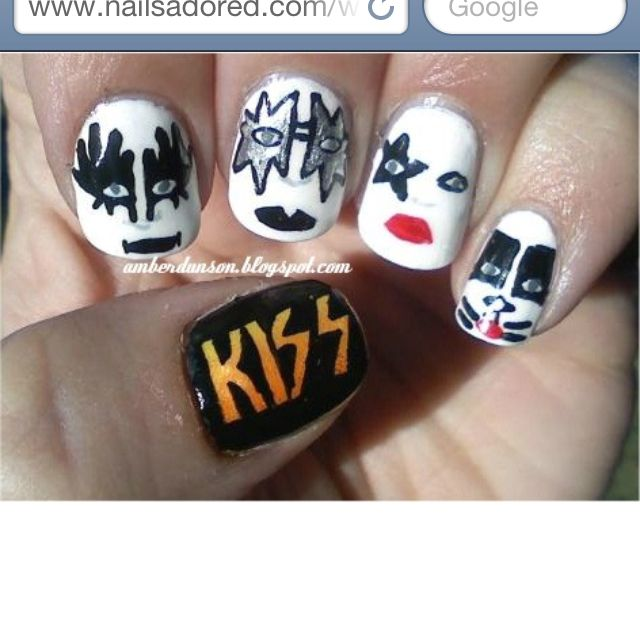 Kiss-nail art! | Beauty and Style | Pinterest | Kiss nails and Makeup