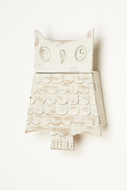 Owl Brooch Cabinet - anthropologie.com - Must have this!