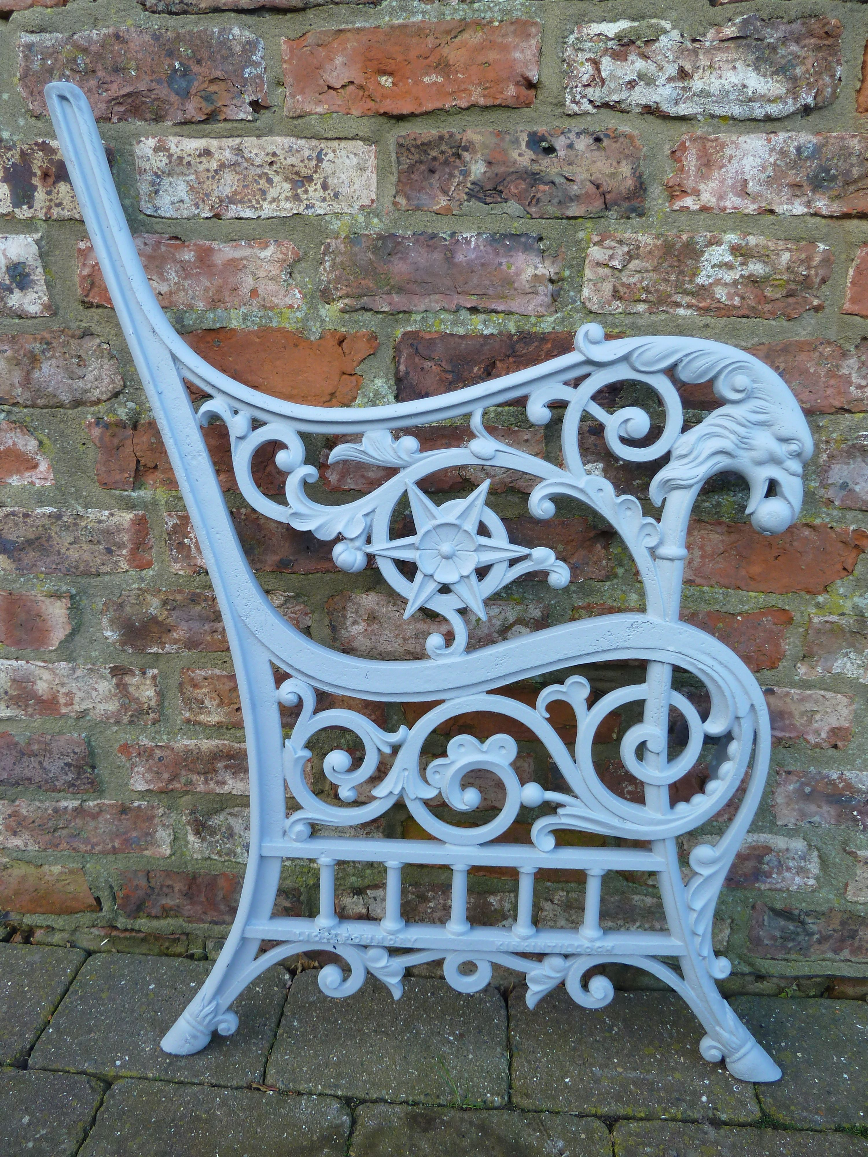 Victorian Bench Ends From The Famous Lion Foundry With Images