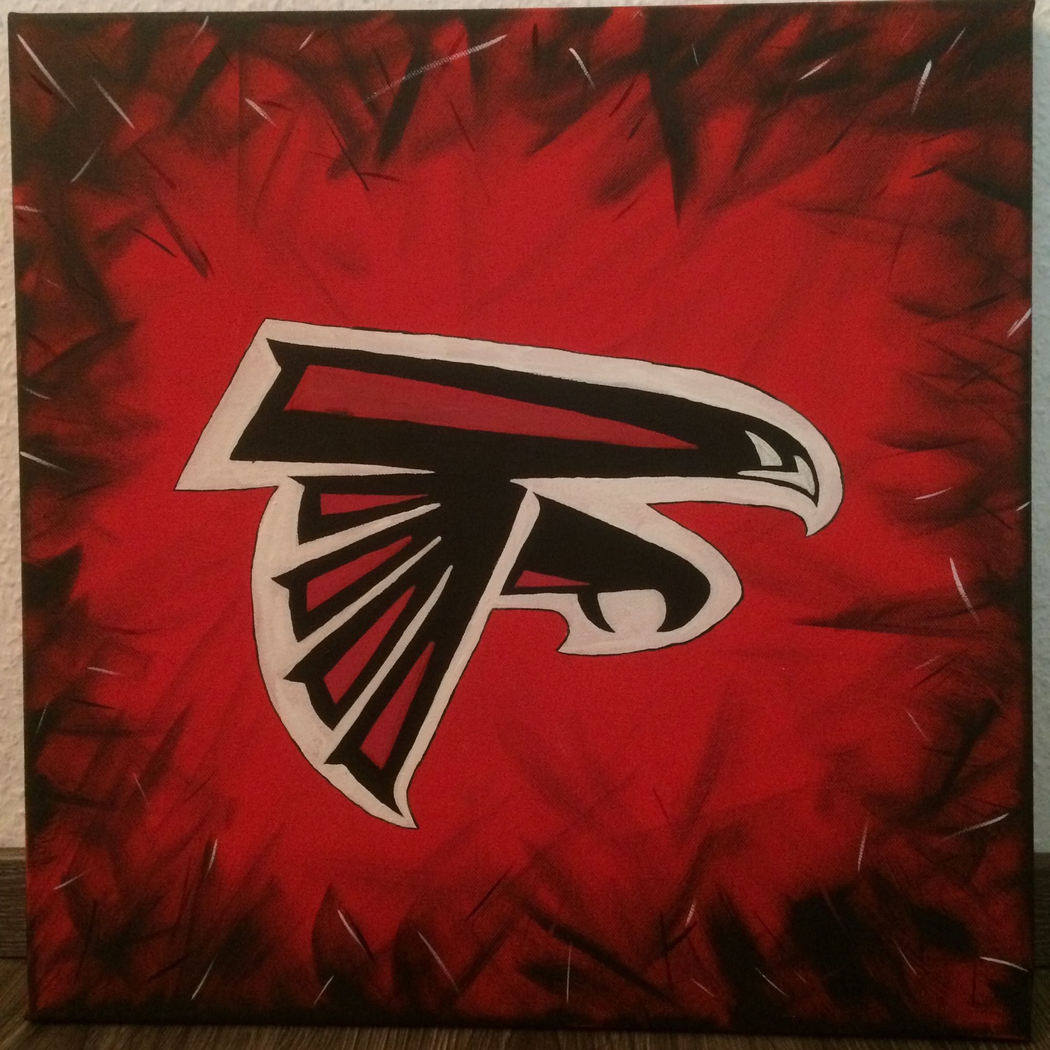 Tribute For Atlanta Falcons Painted With Acryl On Canvas Nfl Football Falcons Acryl P Atlanta Falcons Painting Atlanta Falcons Canvas Selling Paintings