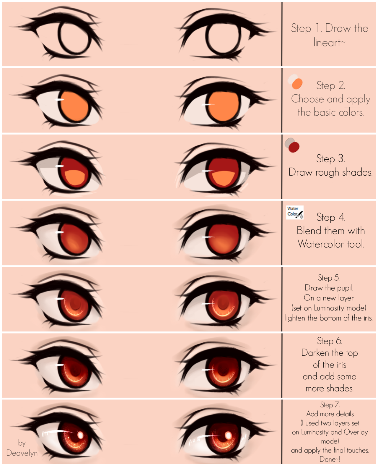 Eyes coloring tutorial v20 by deavelyn artsy pinterest eyes coloring tutorial v20 by deavelyn ccuart Image collections
