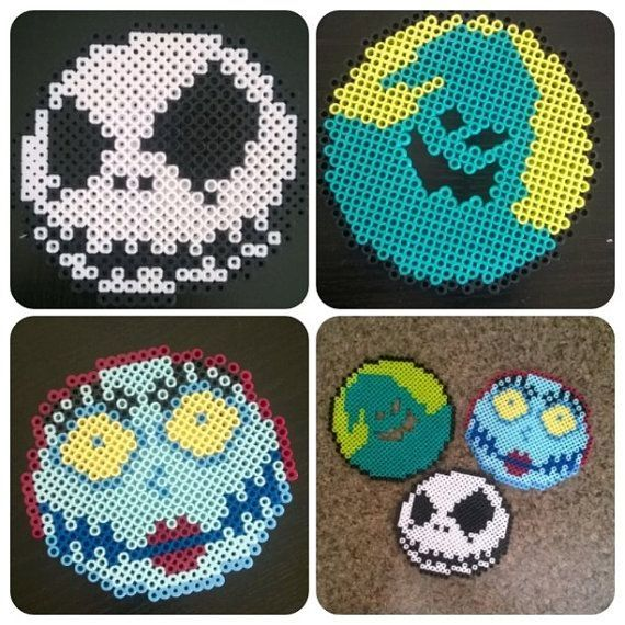 Nightmare Before Christmas Perler Beads | perler Disney | Pinterest