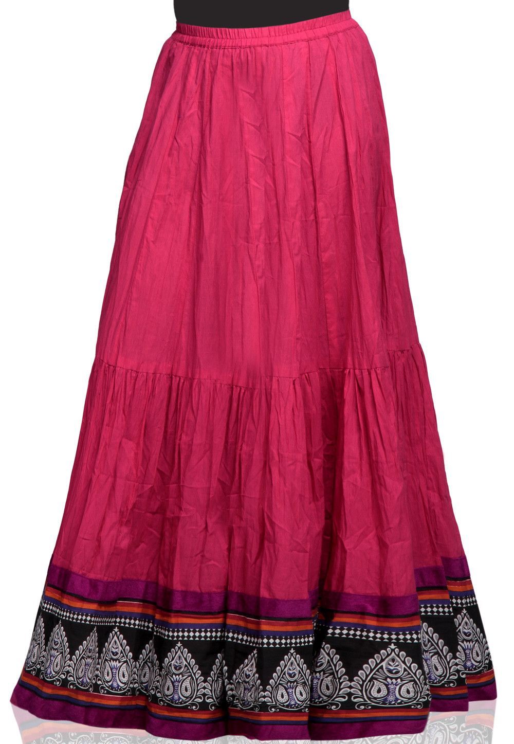 b92ee3511 Printed Crushed Cotton Skirt in Fuchsia | Wardrobe Goals in 2019 ...