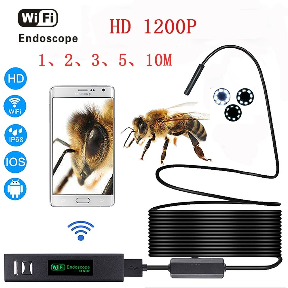 HD 1200P wifi endoscope camera with Android & IOS