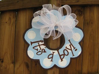It's a boy door hanger