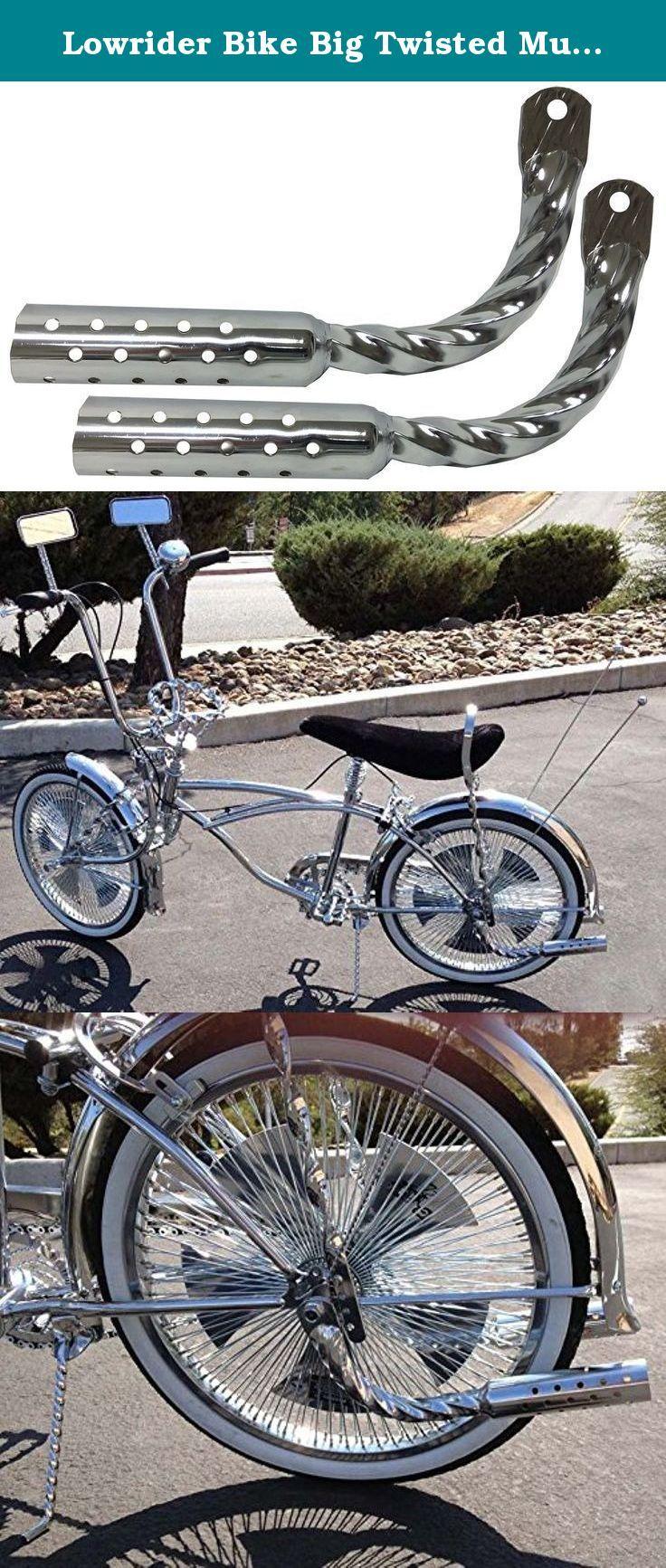 Lowrider Bicycle Muffler W//Holes Chrome Beach Cruiser Chopper Bike Show NEW