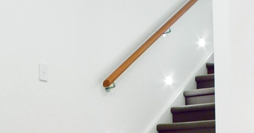 Modern Wood Handrails Wall Mounted For Stairs Google | Modern Stair Handrail Wall Mounted